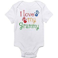 Cafepress Love Grammy Newborn Baby Bodysuit