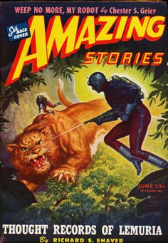 Robert Gibson Jones, Amazing Stories 45-06, Thought Records of Lemuria by Richard S. Shaver.