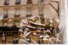 Converse sneakers in popup store, Paris. Brands get so creative when it is a pop-up! PopUp Republic