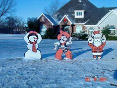 OSU Christmas Yard Art - probably the only Christmas Lawn Ornaments that are acceptable