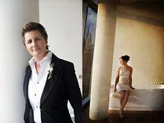 Art lovely butch femme our-little-elopement Lesbian Wedding Photos, Wedding Couples, Our Wedding, Wedding Bells, Butch Fashion, Tomboy Fashion, Wedding Suits, Wedding Attire, Lesbian Love