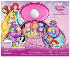 Princess Make Up Kit Eye Shadow,Lip Gloss,Nail Polish,Lip Stick+carrying case