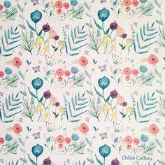 Des petites fleurs pour un grand projet.  #flowers #watercolor #patterns #motif #flowerpattern #illustration