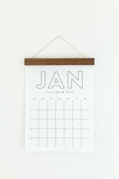 2018 Wall Calendar - monthly calendar - simple and minimal - beautiful typography and clean layout #ad #etsy #wallcalendar