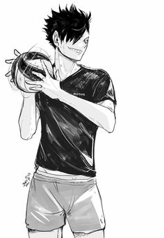 haikyuu, kuroo, and anime image