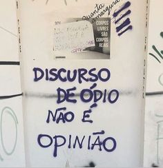 """""""Hate speech is not opinion"""" Street Quotes, Graffiti, Sentences, Texts, Poems, Love You, Mindfulness, Positivity, Lettering"""