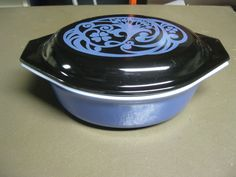 Vintage Pyrex  Ultra Rare Midnight Bloom. O.M.G. Love it.  In my collection!