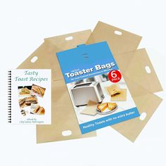 ekSel Non Stick Reusable Toaster Bags, Pack of 6 >>> Click image to review more details.