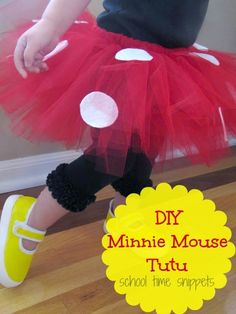 DIY Minnie Mouse Tutu | School Time Snippets