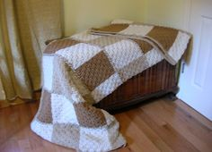 I love this  ETSY Crochet Afghan Neutral Colors  Basketweave by littlestsister, $150.00