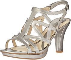 Naturalizer Womens Danya Platform Dress Sandal Pewter 10 N US ** This is an Amazon Affiliate link. Read more at the image link.