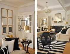 Cream, black, gold, and fabulous on the North Shore of Chicago by Megan Winters Atelier.