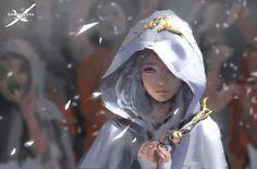 WLOP, Fantasy art, Ghostblade Wallpapers HD / Desktop and Mobile Backgrounds Fantasy Kunst, Anime Fantasy, Fantasy Girl, Elves Fantasy, Fantasy Inspiration, Character Inspiration, Character Art, Character Concept, Fantasy Artwork