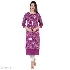 Kurtis & Kurtas Women's Printed Cotton Kurti Fabric: Cotton Sleeve Length: Three-Quarter Sleeves Pattern: Printed Combo of: Single Sizes: S (Bust Size: 18 in Size Length: 36 in)  XL (Bust Size: 21 in Size Length: 42 in)  L (Bust Size: 20 in Size Length: 40 in)  M (Bust Size: 19 in Size Length: 38 in)  XXL (Bust Size: 22 in Size Length: 44 in) Country of Origin: India Sizes Available: S, M, L, XL, XXL   Catalog Rating: ★4 (429)  Catalog Name: Women Cotton A-line Printed Orange Kurti CatalogID_1048977 C74-SC1001 Code: 892-6583727-396