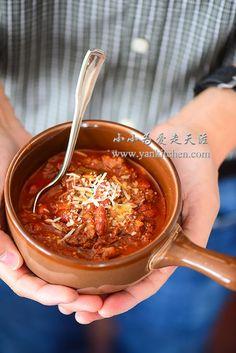 Spicy Venison Chili — Yankitchen Orange Recipes, Spicy Recipes, Chili Recipes, Veggie Recipes, Crockpot Recipes, Cooking Recipes, Veggie Food, Delicious Recipes, Cooking Tips