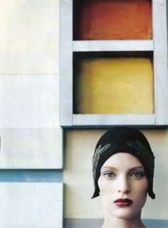 "Model: Carolyn Murphy, Guinivere van Seenus & Amy Wesson;Photographer: Steven Meisel, ""Neo Structure""Vogue Italia1997"