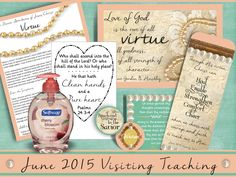 June 2015 LDS Visiting Teaching Message and by WordyWisdom on Etsy