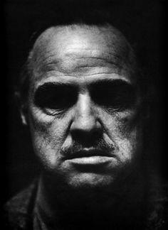 actors - Marlon Brando - Don Vito Corleone -the Godfather Foto Portrait, Portrait Photography, Photography Ideas, Black And White Portraits, Black And White Photography, Marlon Brando The Godfather, Godfather Actors, Godfather Quotes, Don Corleone