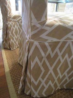 Slipcover design diy for IKEA Hendriksal chair on Bibbidi-Bobbidi-Beautiful blog.
