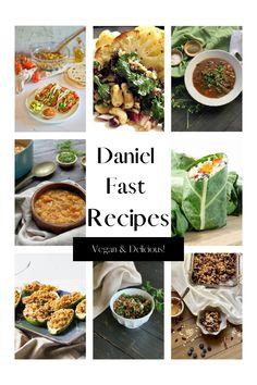 Daniel Fast Dinner Recipe, Daniel Fast Meal Plan, Daniel Fast Recipes, Low Sugar Recipes, Vegan Recipes, Sugar Foods, Vegan Fast Food, Healthy Food, Fast Dinners