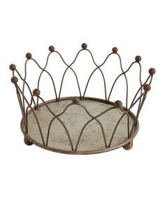 Another great find on #zulily! Brown Crown Candle Holder #zulilyfinds