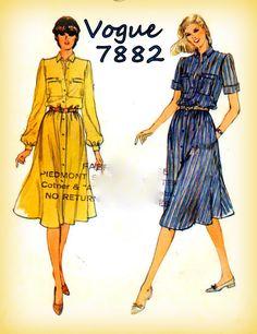 Sewing Pattern Vintage 1980s Vogue 7882 by mmmsvintagepatterns