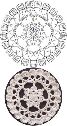 This Pin was discovered by Све Crochet Mandala Pattern, Crochet Circles, Granny Square Crochet Pattern, Crochet Flower Patterns, Crochet Diagram, Crochet Stitches Patterns, Crochet Chart, Crochet Doilies, Crochet Lace