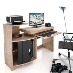 Mesa para Computador Vamol Shari - Ébano Dorale/Preto - Mesas para Computador e Escrivaninhas no CasasBahia.com.br