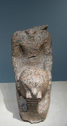 Statue of Hatshepsut Kneeling  Date: ca. 1473–1458 B.C.  Deir el-Bahri, Senenmut Quarry & Mentuhotep Causeway, MMA 1927-1928  Accession Number: 31.3.160