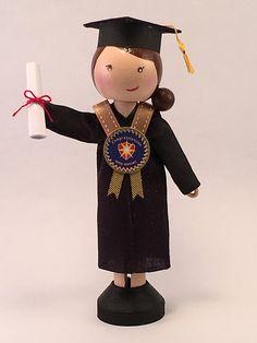 Graduate Peg Doll