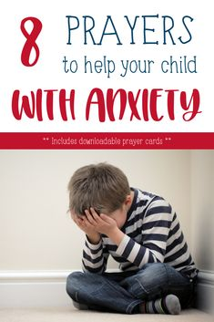 8 Bible-based prayers for children and adults dealing with anxiety or feeling overwhelmed. Raising Godly Children, Prayers For Children, Raising Boys, Kids Prayer, Childrens Prayer, Teaching Kids, Kids Learning, Teaching Activities, Printable Prayers