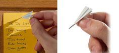 紙飛行機デザインのプッシュピン1