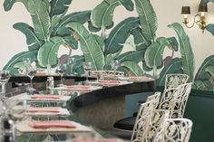 The-Beverly-Hills-Hotel_ signature banana leaf wallpaper /Bonkers for Banana Leaf / The English Room Blog