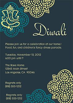 Free Diwali Cards and Free Diwali Invitations