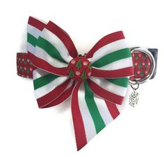 Buon Natale Christmas Dog Collar size Large