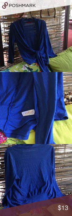 cover up tie top Blue 100% cotton tie top. Velvet Tops Blouses