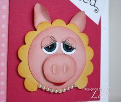 Miss Piggy punch art closeup  ~ my grandma's favorite Muppet's character!!
