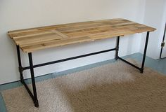 Salvaged Wood and Pipe Desk by riotousdesign on Etsy, $650.00