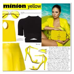 """""""Yellow and Black"""" by naomimjc ❤ liked on Polyvore"""