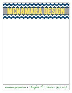 McNamara Design letterhead.    www.jonalynnmcfadden.com
