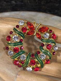 Christmas Themed Holiday Butterfly Wreath Gorgeous