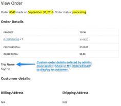 WooCommerce Admin Custom Order Fields 1.6.3 Extension  Download…