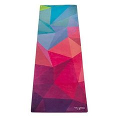 The Combo Yoga Mat. All-In-One Mat/Towel Designed to Grip Even Better the More You Sweat. Eco-Friendly Materials. Two Products in One. Machine Washable. Includes Carrying Strap. Great for Yoga, Bikram, Hot Yoga, Pilates, Home Exercises. (Geo)