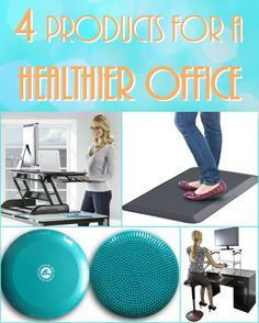 Do you find yourself sitting all day at work? Here are four products to help you get on your feet (and get more fit!). #FBGWorkIt