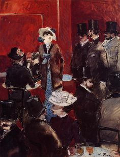 Jean-Louis Forain - At the Cafe