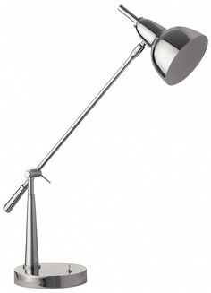 Jato Round Chrome Desk Lamp