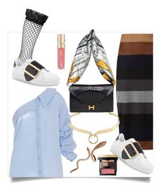 """""""Untitled #136"""" by dido-c ❤ liked on Polyvore featuring Johanna Ortiz, MaxMara, Burberry, Boohoo, Alexis Bittar, Free Press, Smith & Cult and Bobbi Brown Cosmetics"""