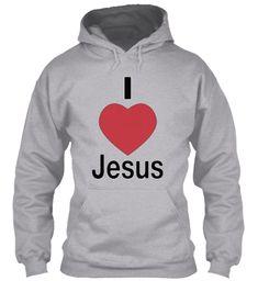 I Love Jesus Sport Grey Sweatshirt Front