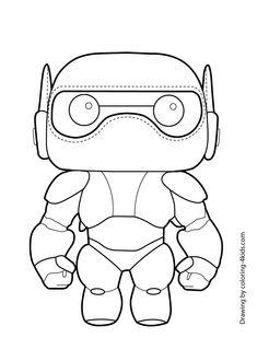 Big Hero Six Baymax Coloring Page For Kids Printable Free 6