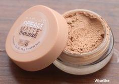 Maybelline dream matte mousse sandy beige medium foundation review